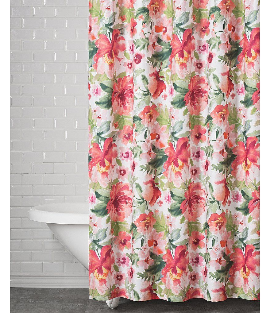 Southern Living Blossom Shower Curtain Shower Curtain Curtains