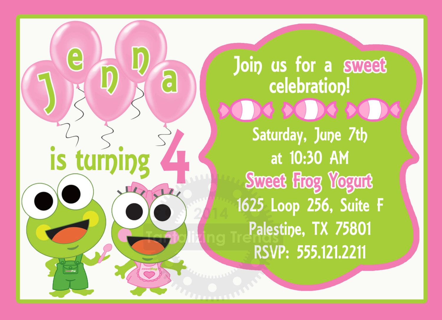 Sweet frog birthday invitation printable 5x7 digital file by sweet frog birthday invitation printable 5x7 digital file by tantalizingtrends on etsy https filmwisefo Images