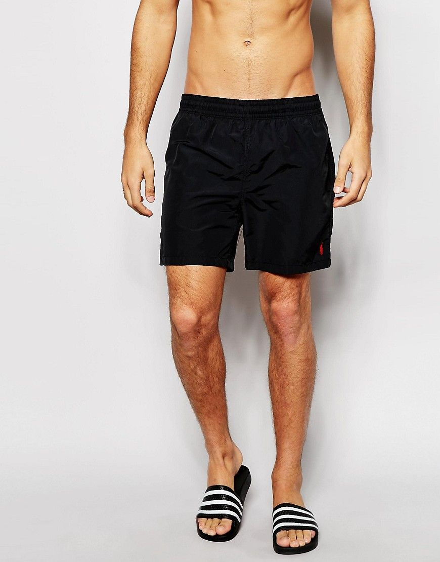 e2f13c0f16 Polo Ralph Lauren Hawaiian Swim Shorts Black | #RhysSelects