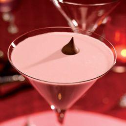 French Kiss--vodka, Chambord, dark creme de cacao, & half & half.