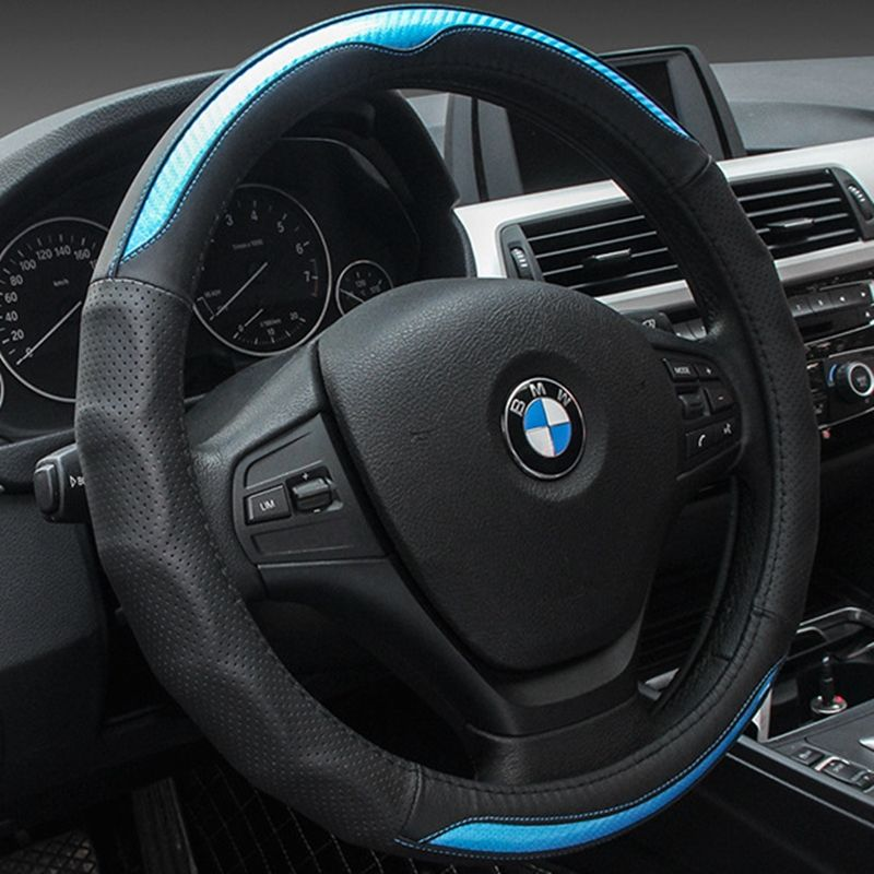 2017 New Universal Car Steering Wheel Cover Top Layer Leather Steering-Wheel Covers  38cm Auto Steering Interior Accessories