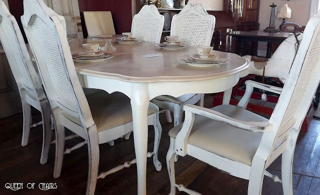 French Cane Back Chairs Painted White Furniture