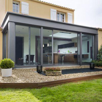 Moderne en 2019 veranda agrandissement maison et veranda aluminium - Agrandissement maison veranda ...