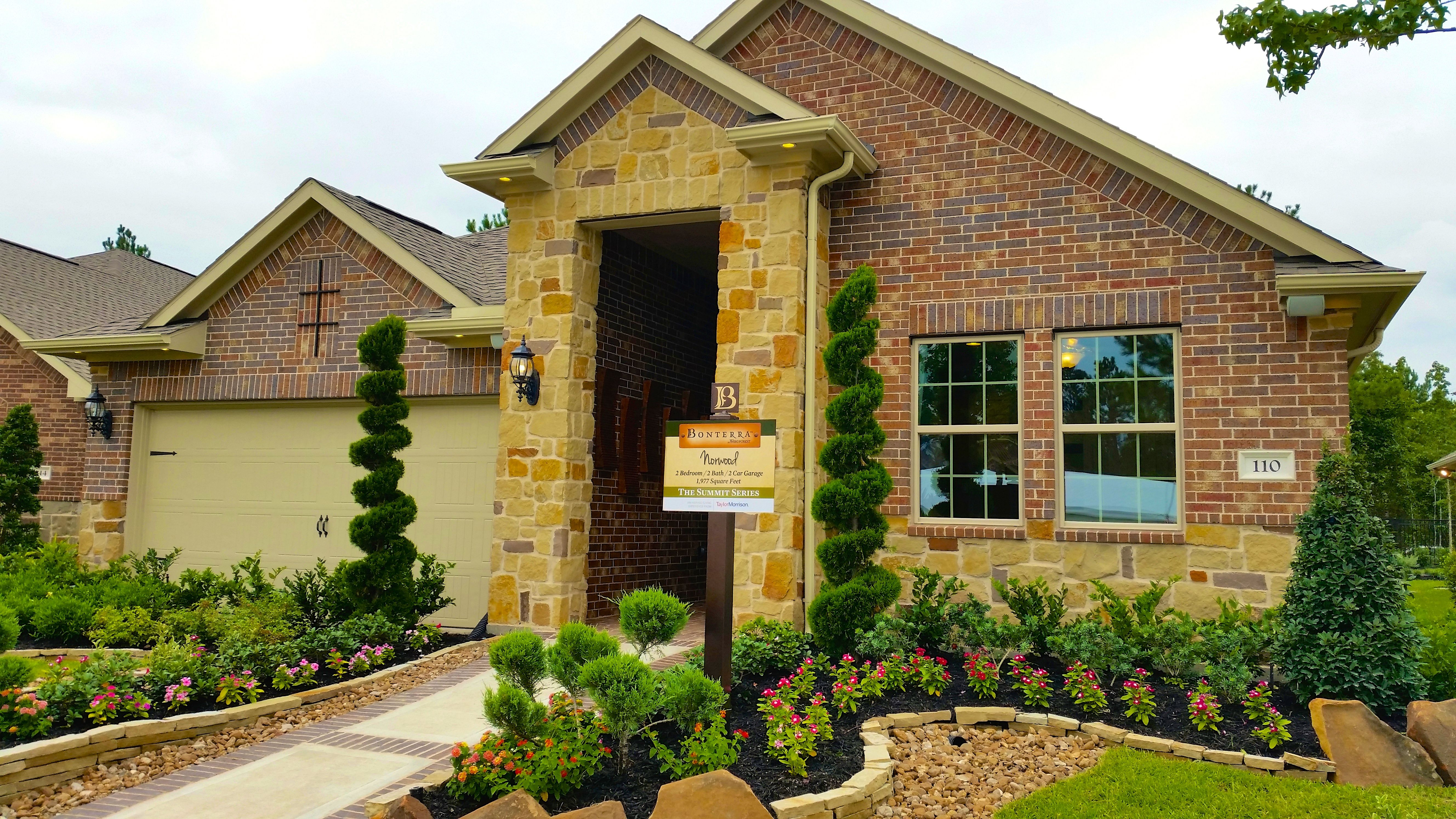 Exterior of the norwood at bonterra offers charming