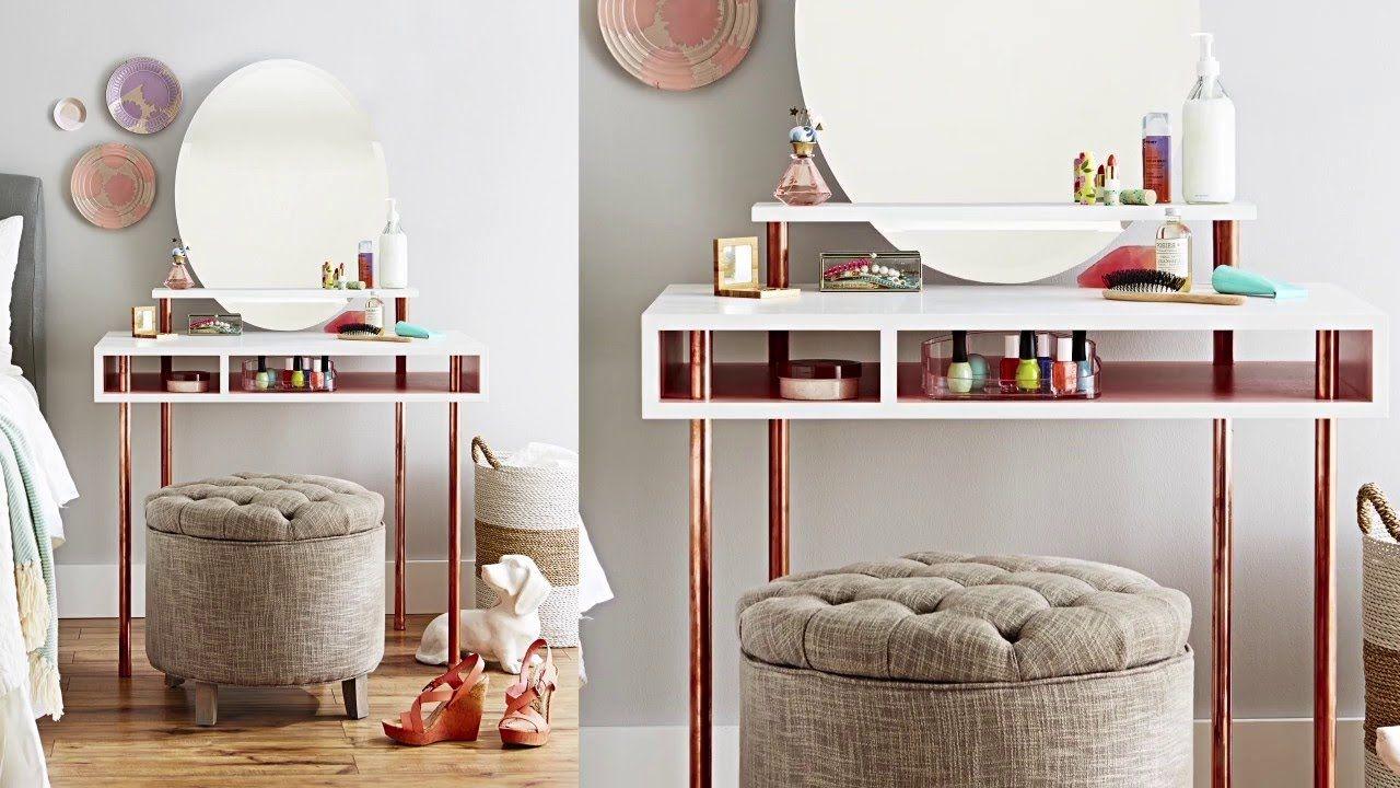 Build a Copper Leg Dressing Table -   diy Interieur dressing