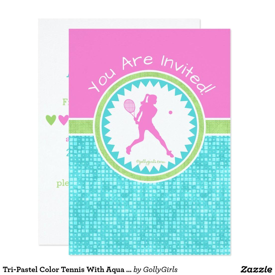 Attractive Tennis Birthday Party Invitations Ensign - Invitations ...