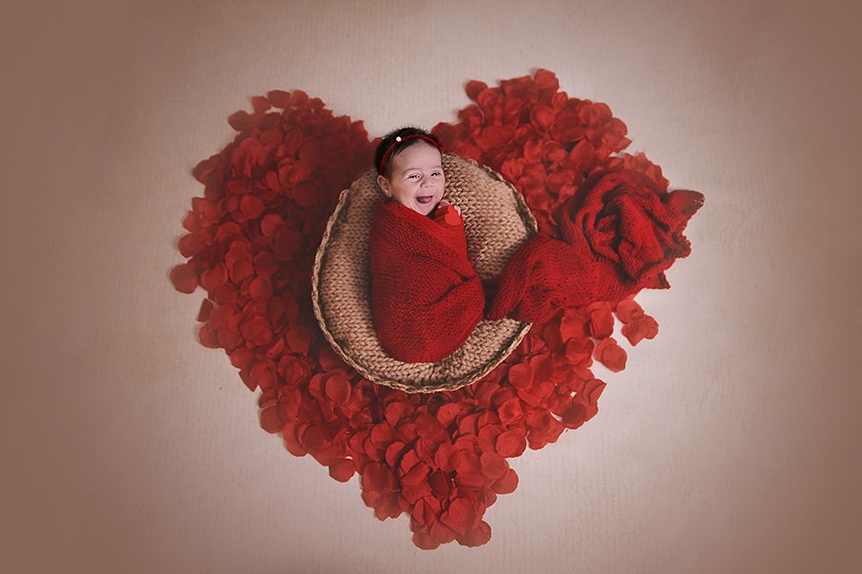 fairytale, heart, rose, red, happyvalentine, smile, newborn, girl
