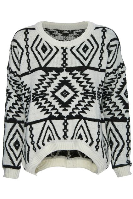 d45f73b230 Asymmetric Tribal Style Cream Jumper