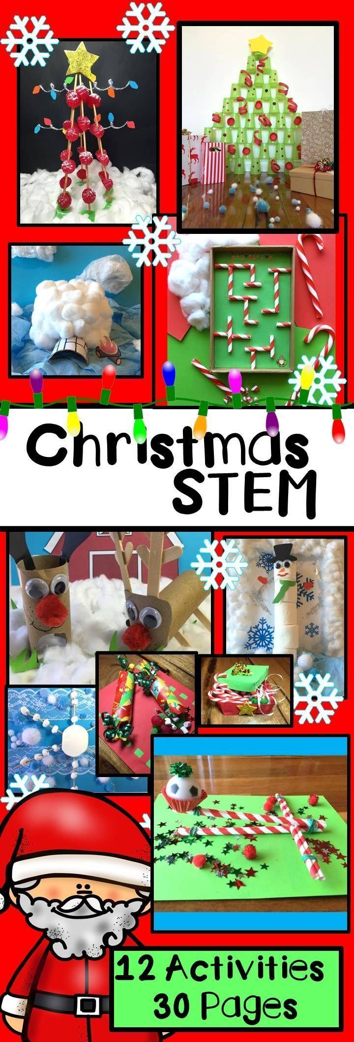 Christmas STEM Activities #stemactivitieselementary