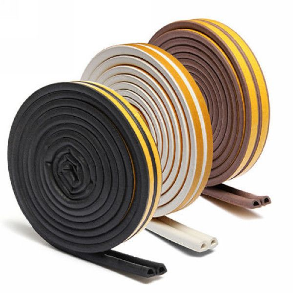 Foam Rubber Seal Strip Self Adhesive Door Accessories Noise Insulation Door Seals