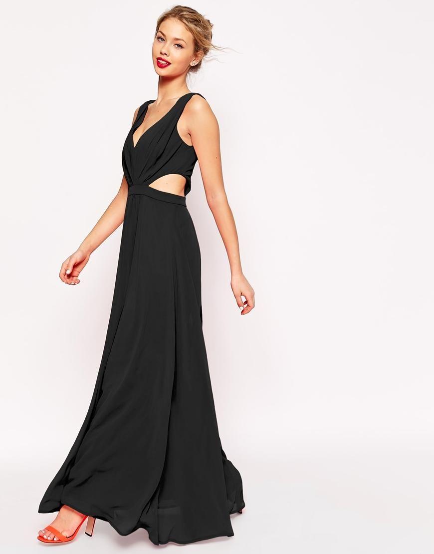 Asos asos side cutout maxi dress at asos prom dresses