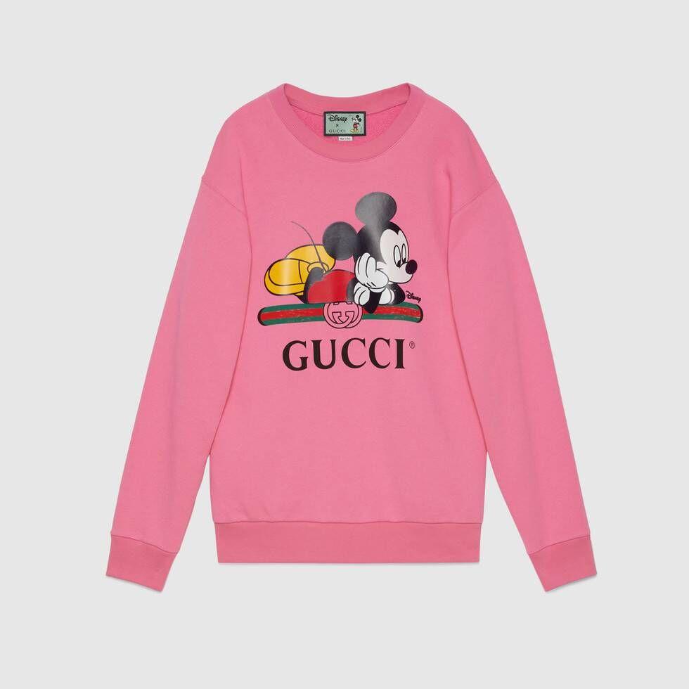 Shop The Disney X Gucci Oversize Sweatshirt In Pink At Gucci Com Enjoy Free Shipping And Complimentary Gift Sweatshirts Oversized Sweatshirt Sweatshirts Women [ 980 x 980 Pixel ]