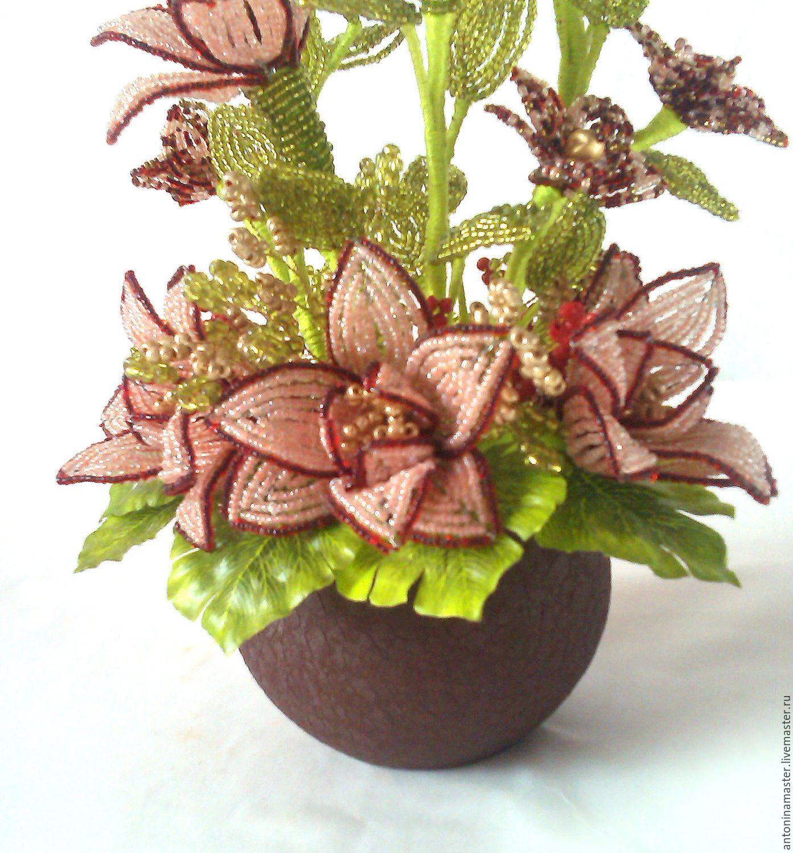 Новинки бисер цветы