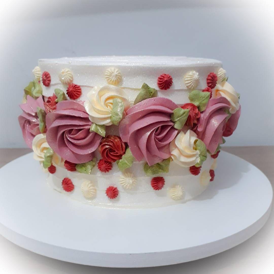 Фото по оформлению тортов кремом цветы