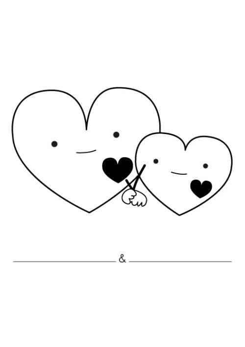 Hochzeit Und Liebe Liebesherzen Ausmalen Zum Ausmalen Hochzeit