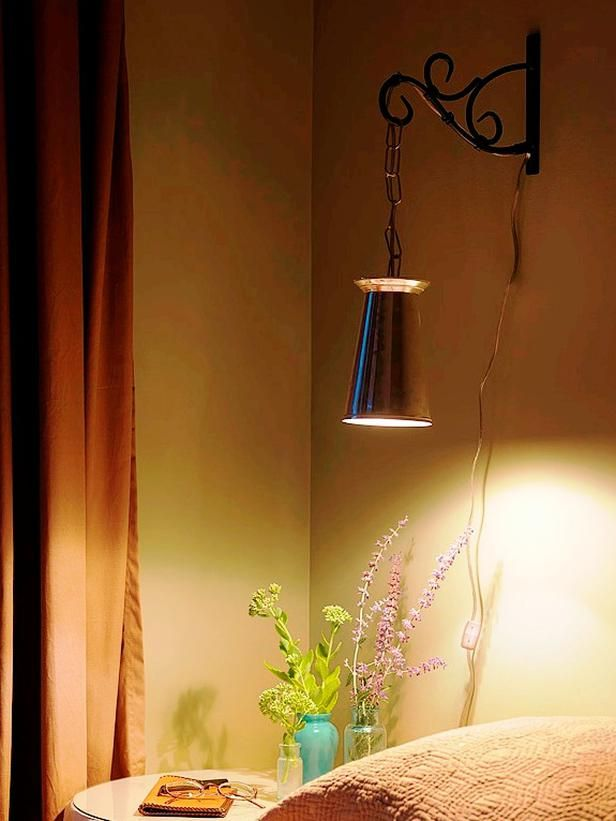 How to Make a Wall Lamp Out of a Metal Vase   Diy network ...