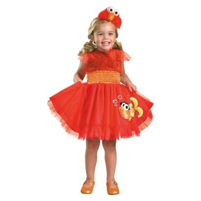 Sesame Street Girls\u0027 Toddler Frilly Elmo Costume Elmo costume - toddler girl halloween costume ideas