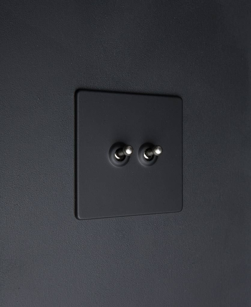Black Double Toggle Switch Four Toggle Finishes Available With