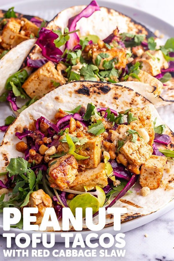 Peanut Tofu Tacos with Cabbage Slaw • The Cook Report