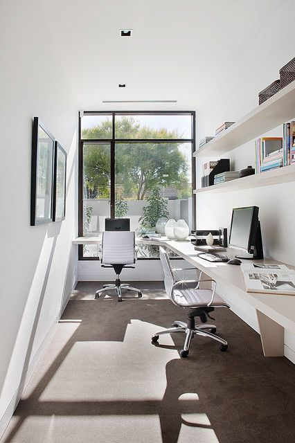 16 Simple But Awesome Home Office Design Ideas For Your Inspiration Contemporary Home Offices Contemporary Home Office Small Office Design