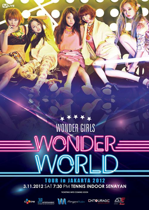 Wonder Girls' 'Wonder World Tour in Jakarta 2012′ announced