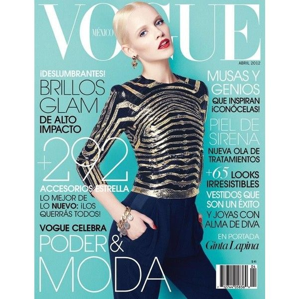 Vogue Mexico April 2012 Cover ❤ liked on Polyvore featuring magazine, models, people and pics