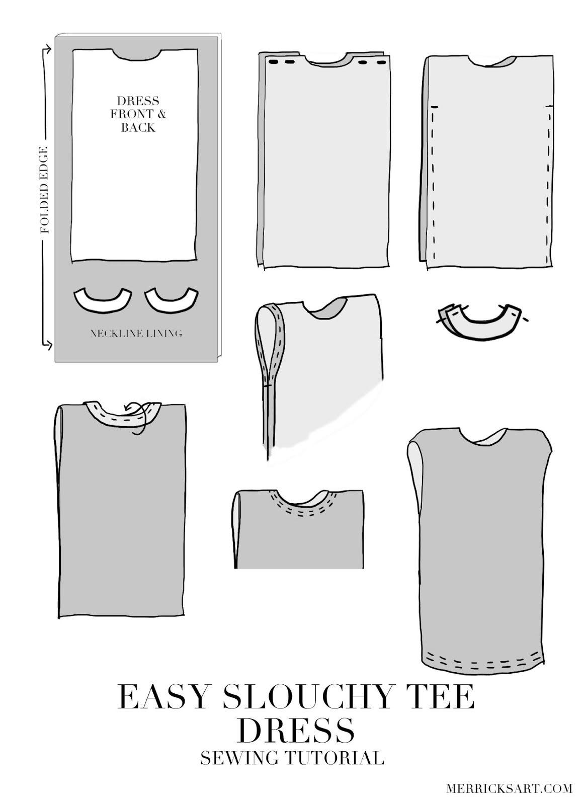 DIY FRIDAY: SLOUCHY HOSPITAL T-SHIRT DRESS | Crafty | Pinterest ...