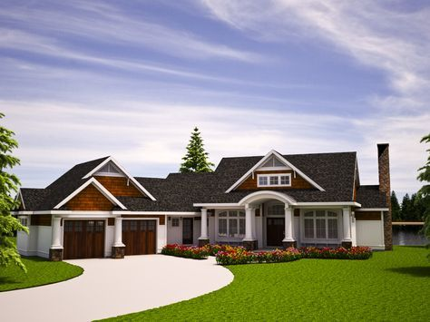 Plan 18262be One Level Vacation Home Plan Empty Nester House Plans Cottage Floor Plans House Plans