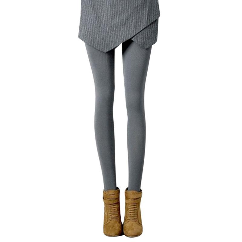 58104f8ef70 Winter Women Tights Stripe Velvet Hosiery Solid Color Ladies Leggins Collants  Femme Thick Warm Stockings Pantyhose Medias
