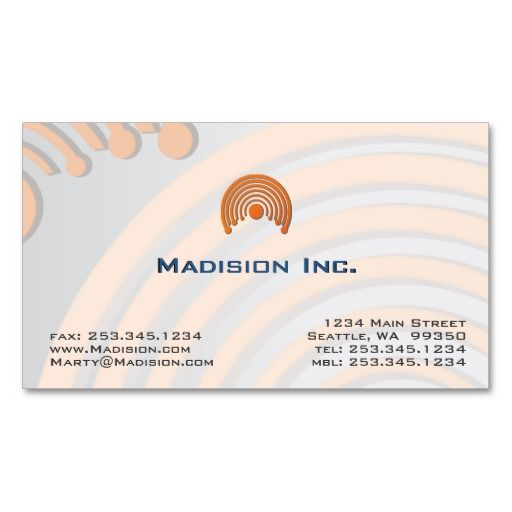 Professional Pastel Modern Business Card Template ... pleasing orange and gray color abstract design.  Ten paper choices.