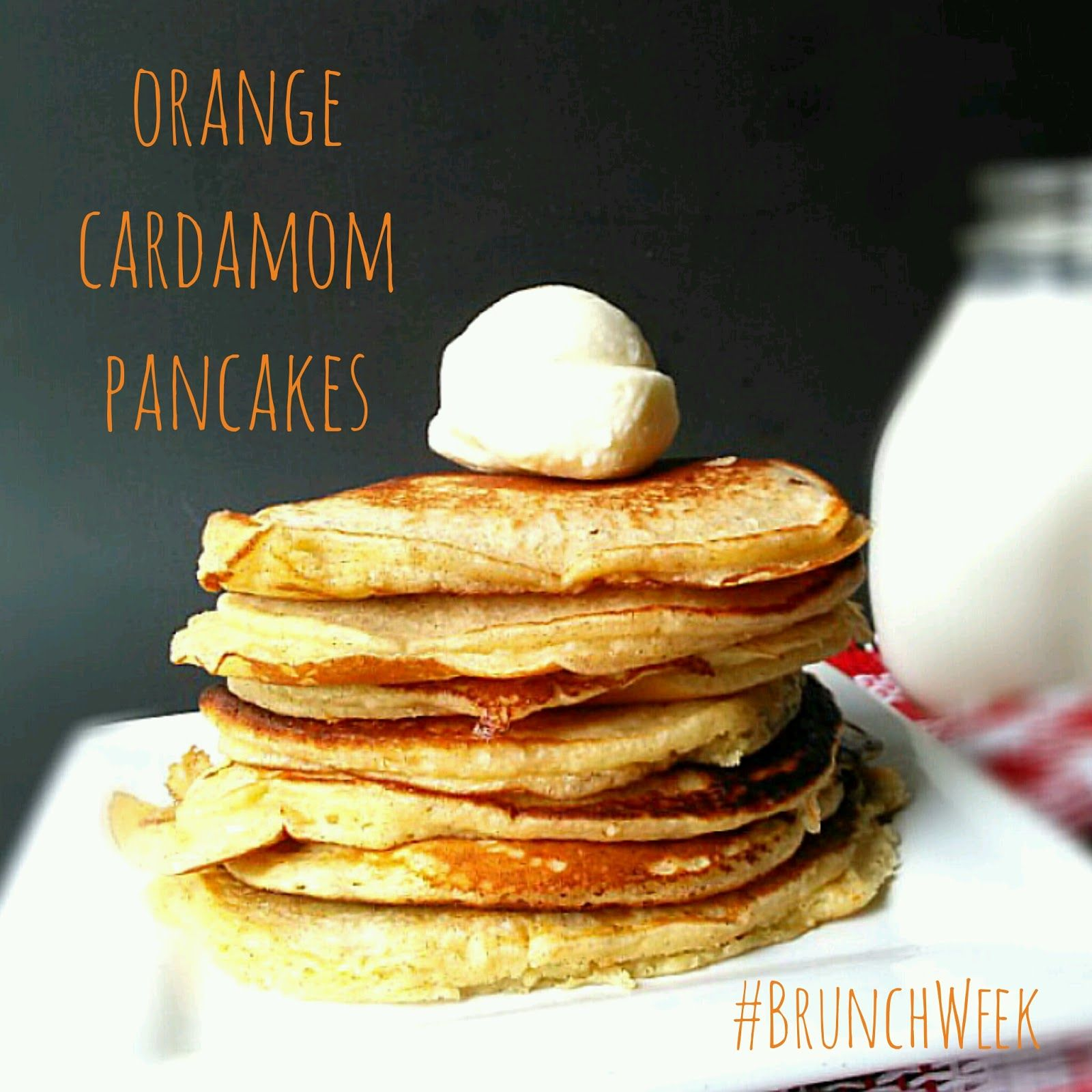 These Orange Cardamom Pancakes are the fluffiest, most flavorful flapjacks you've ever had. You'll never guess the secret ingredient #BrunchWeek