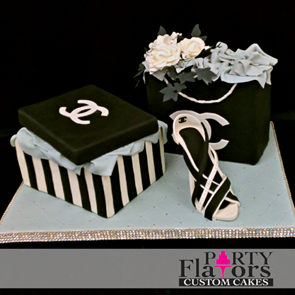 Elegant Chanel Inspired Sugar Crafted Shoe Cake By Party Flavors Custom Cakes Orlando FL