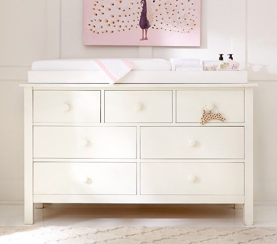 Kendall Extra Wide Nursery Dresser Topper Set Baby Room