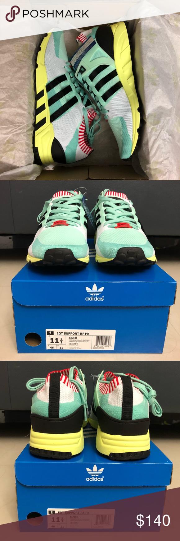 adidas eqt support rf primeknit frozen green