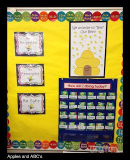 Behaviour Management Flip Card System Love This Idea Bee Classroom Bee Themed Classroom Behavior Management