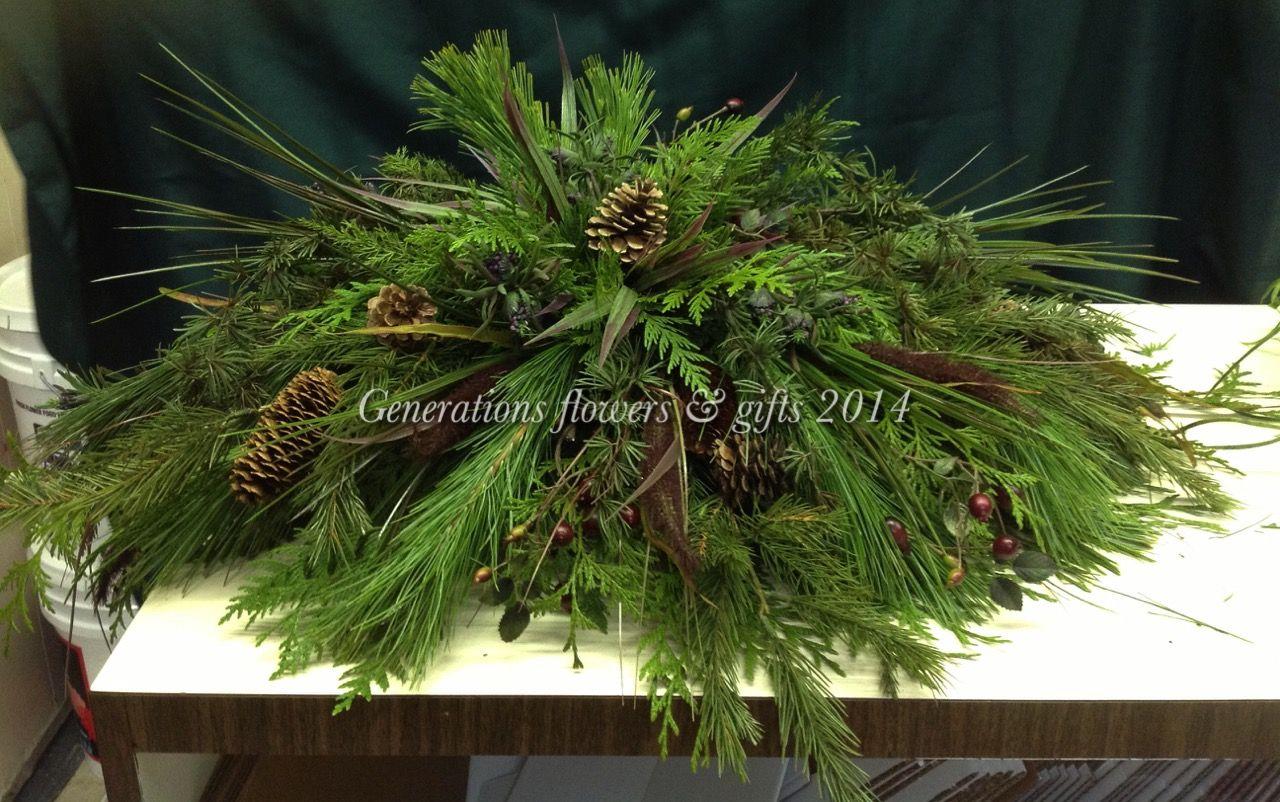 Fresh Floral Half Casket Saddle All Greens Quite Woodsy