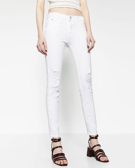 d939c60c ZARA - WOMAN - WHITE JEANS | fashion | Jeans, White jeans, Zara