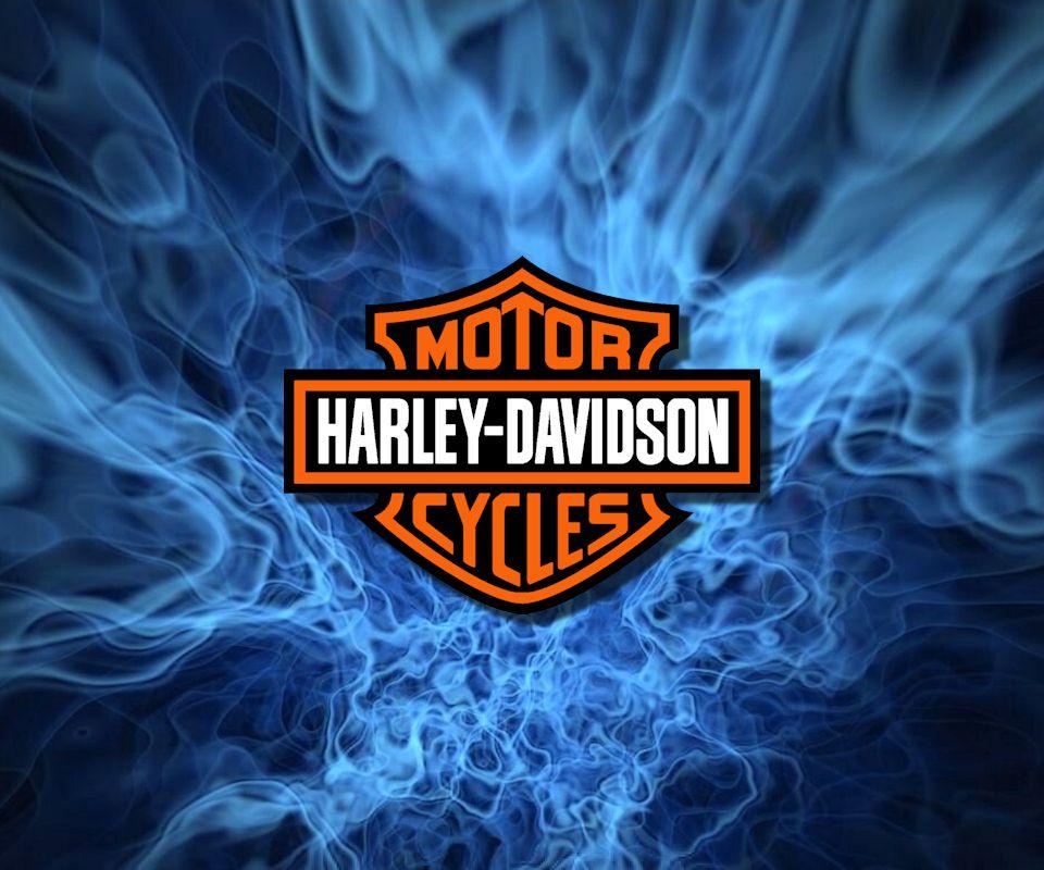Harley Davidson Logo With Blue Flames Harley Davidson Motorcycles Harley Davidson Classic Harley Davidson