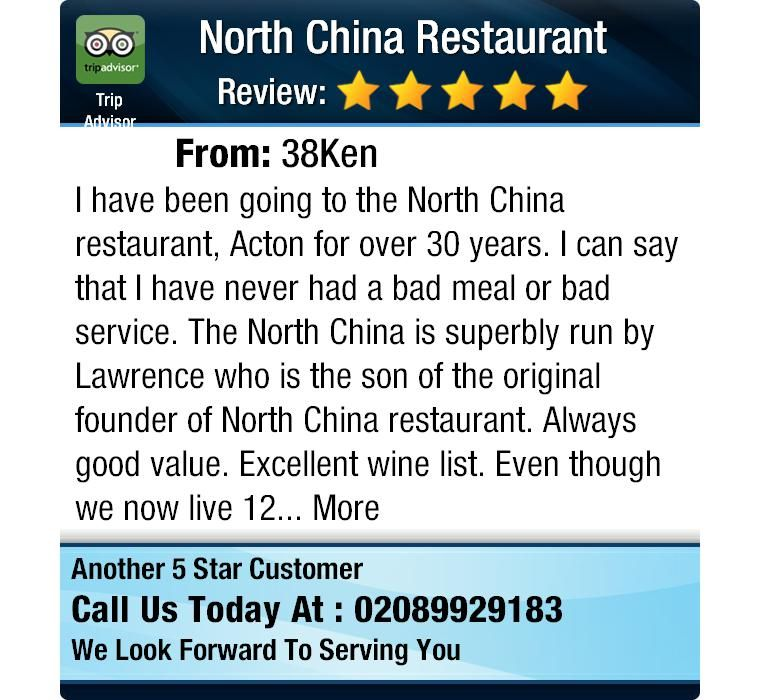 I have been going to the North China restaurant, Acton for over 30 years. I can say that I...