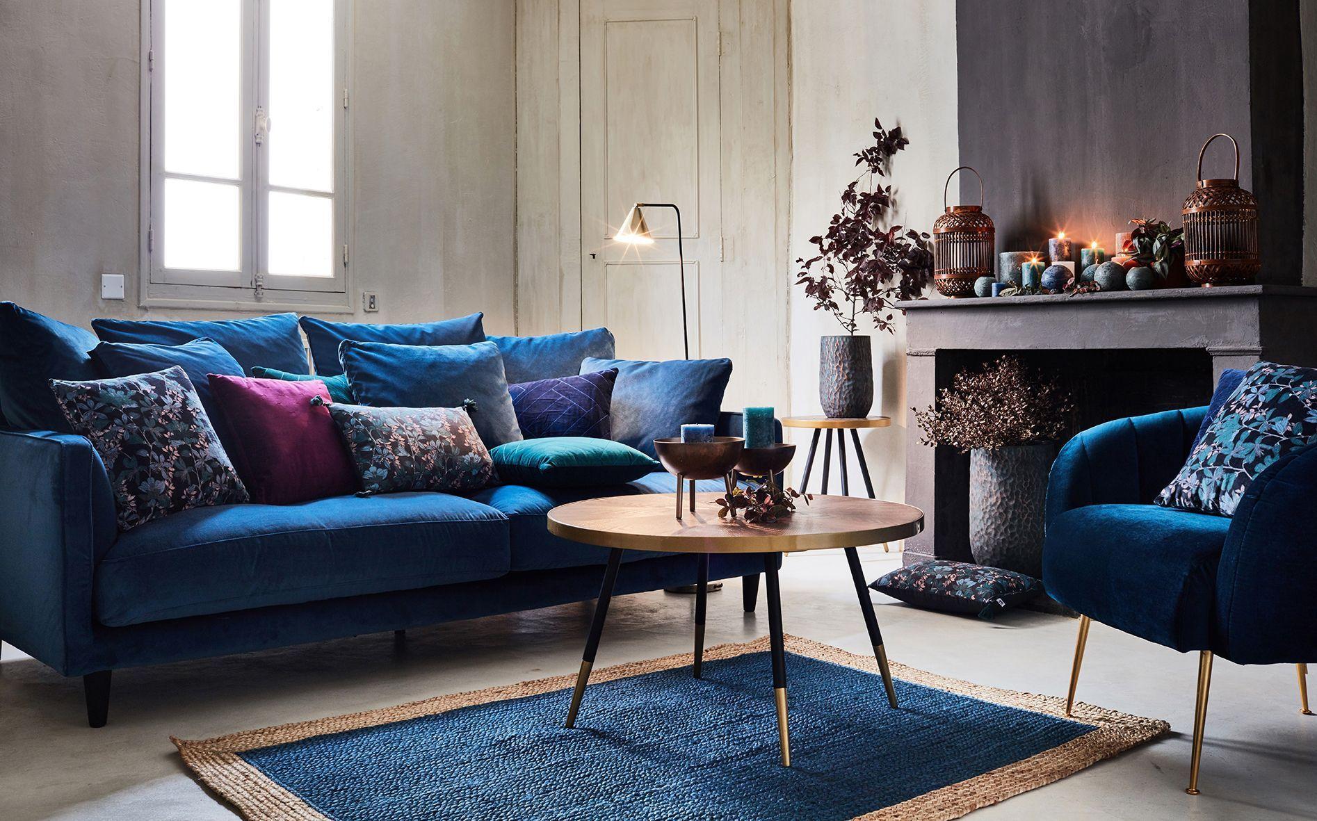 alinea : collection automne hiver 20  Canapé velours bleu