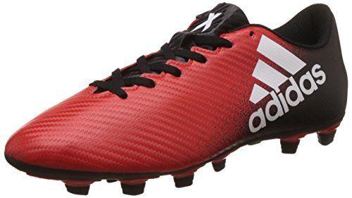 Adidas X 16.3 FG, Botas de Fútbol para Hombre, Rojo (Redfootwear Whitecore Black), 45 1/3 EU