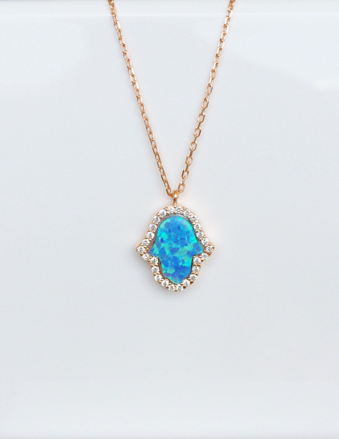 opal pendant type emv hawaiian blue stone jewelry collection synthetic