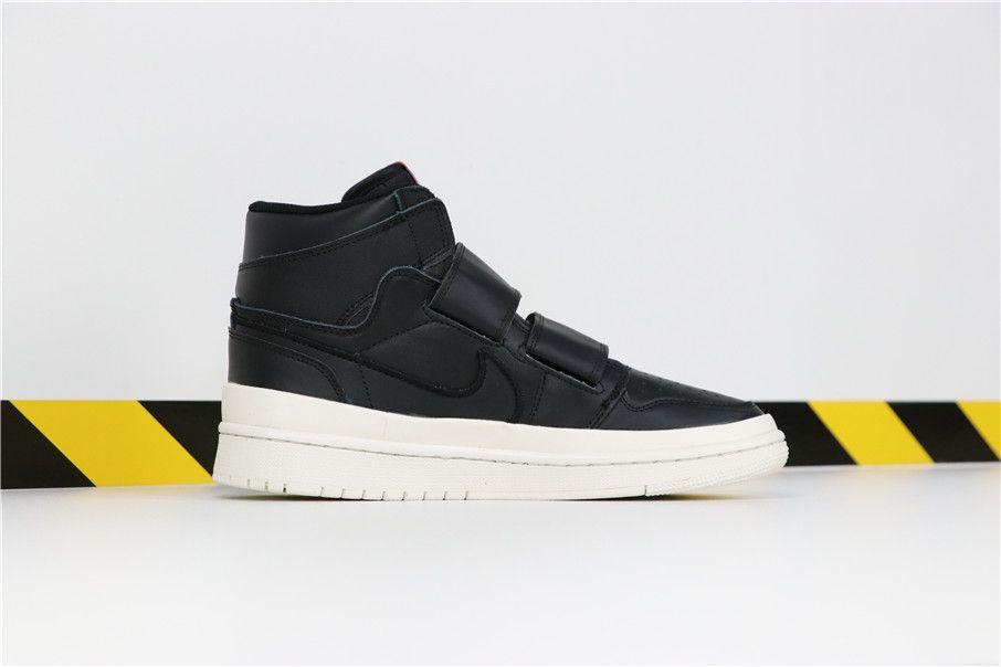High 1 Double Jordan Free Strap Shoes Black Air Shipping2 Ee2YIDWH9b