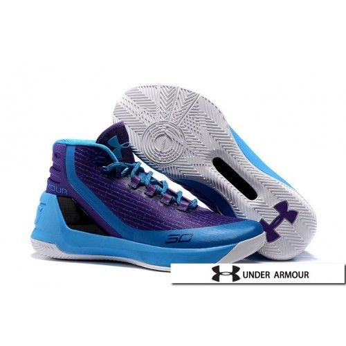 2016 Under Armour UA Curry 3 Father To Son Purple Blue White Shoes