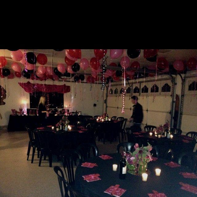Garage Transformation To Dinner Party Garage Party