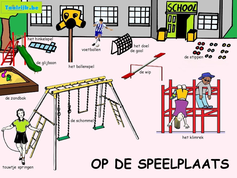 Woordenschat op de speelplaats (thema school