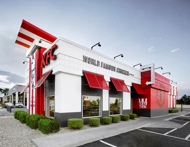 Kfc S Redesigned Store Looks Like A Half Finished Banksy Looks