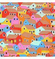 e0a5148bc118 shanty town in bright - designer pamut méteráru | Favorite fabric ...