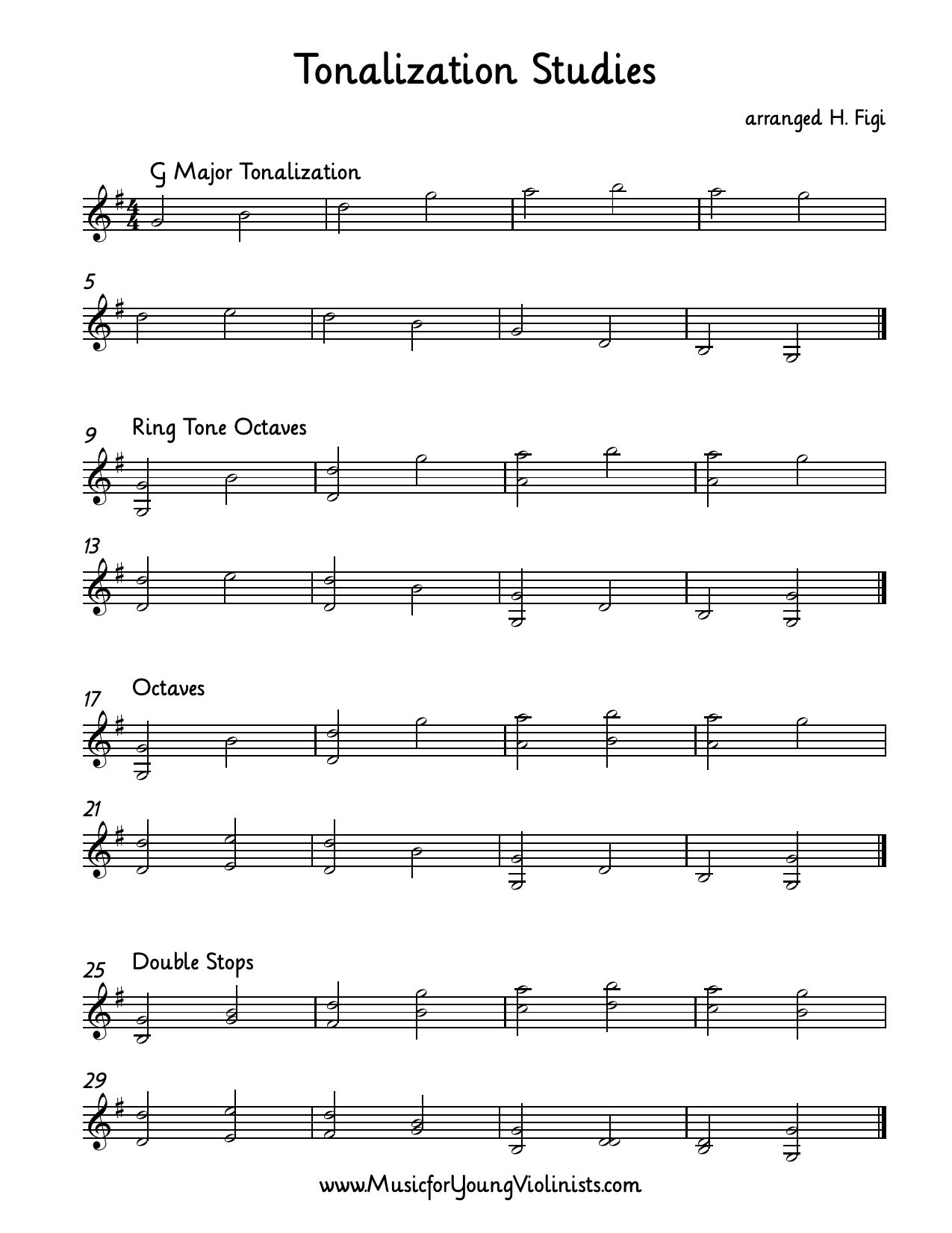 Violin Music Tonalization Studies Arranged In A 4 Part Progression Adding In Doublestops This Progression Will Violin Sheet Music Violin Lessons Violin Music