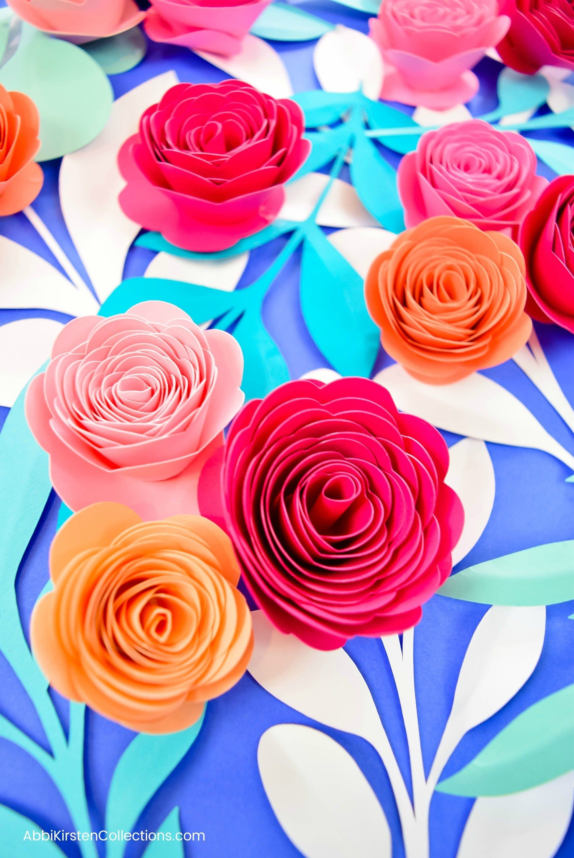 How to Make Paper Rosettes DIY Paper Flower Tutorial with ...